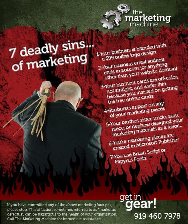 """Avoid The """"seven Deadly Sins"""" Of Marketing With Good Graphic Design - TheMmachine"""